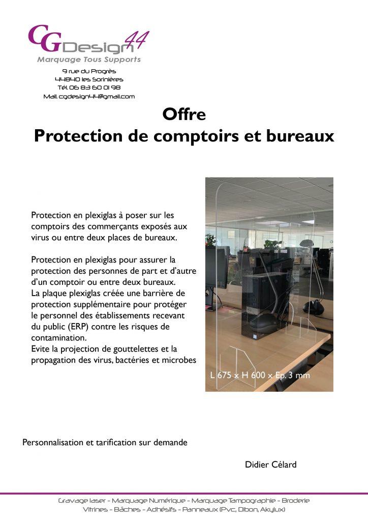 Protection de comptoirs et bureaux