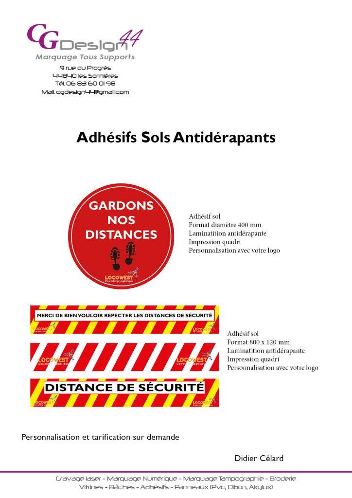 Adhésifs Sols Antidérapants